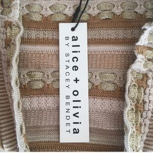 Alice + Olivia Tops - NWT ALICE + OLIVIA Sandrine Crochet Cropped Tank